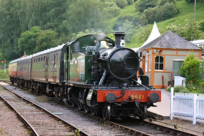 The scenic Dean Forest Railway runs between Lydney and Parkend in the Forest of Dean.