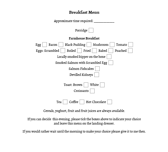 Image for Breakfast Menu